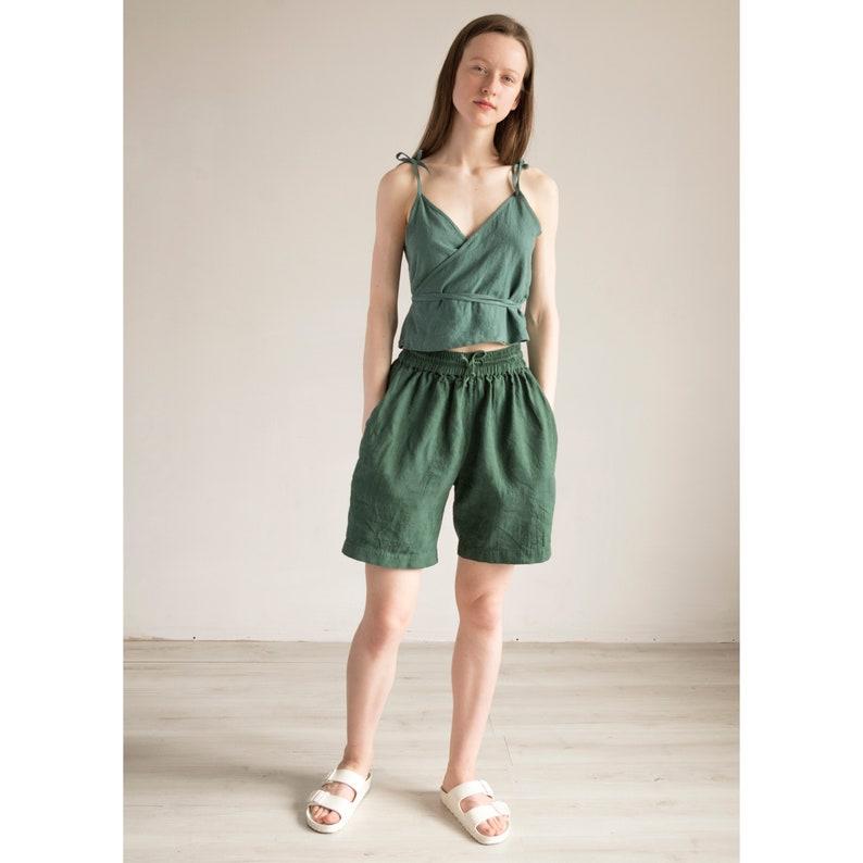 70 colorsWrap Linen topWrap Women blouseLinen clothingWomen clothingOrganic linen