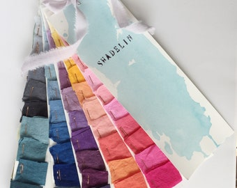 70 colors.Fabric swatches. Samples fabric.Color book.Pallet of hand dyed Linen.Linen homewear.Linen clothing.Women clothing