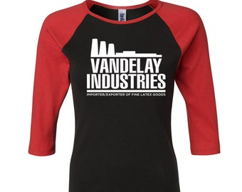 More Colors VANDELAY INDUSTRIES Ladies 3 4 Sleeve Raglan T Shirt