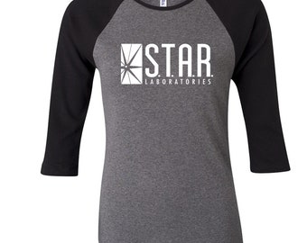 4b601791c0898a S.T.A.R. Laboratories Ladies 3 4 Sleeve Raglan T-Shirt