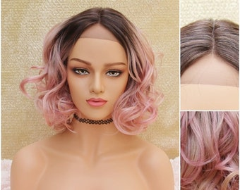 Pink Ombre Wig Etsy