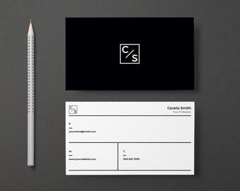 Modern business card etsy business cards design colourmoves