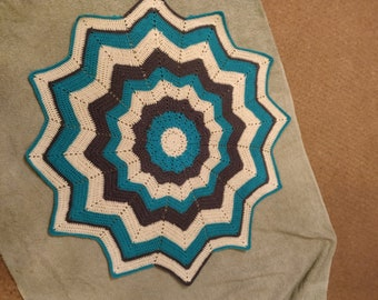 Crochet 12 point star blanket