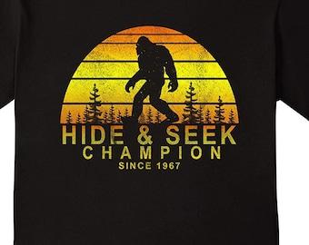 c15452a9 Hide And Seek World Champion, Hide And Seek, Bigfoot Shirt, Sasquatch, Sasquatch  Shirt, Funny Bigfoot Shirt, Gift For Her, Gift For Him