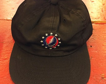 7a00f08305a Grateful Dead - Good Ol  Steal Your Face Classic Baseball Cap (Black) (New  Old Stock)