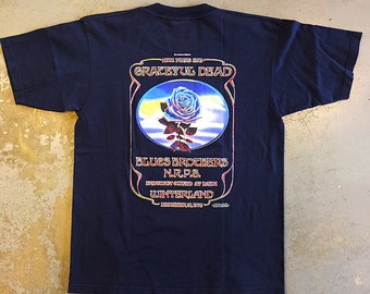 Grateful Dead - Blue Rose New Year's Eve 1978 T-shirt on navy (Vintage Used Clothing)