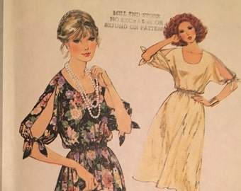 Simplicity 8586 misses 1970s dress kimono sleeves size 14
