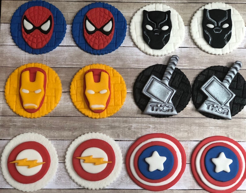 Other Baking Accessories Little Super Hero Inspired Edible Cupcake Toppers Decoration Responsible Spiderman