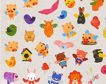 Cute Animal Sticker Sheet