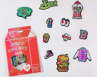 Cool 90s Food Sticker Flakes