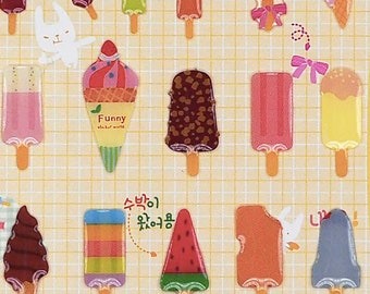 Sticker Sheet Popsicle Crystal Stickers