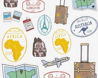 Travel Stickers for Planners