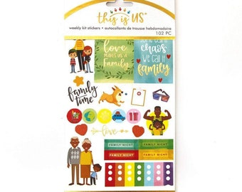 Family Life Planner Sticker Kit