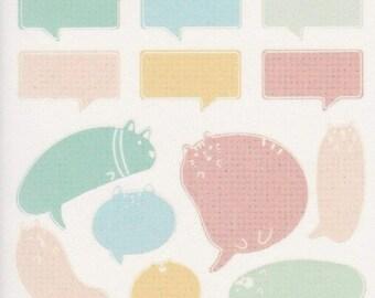 Cat Stickers Speech Bubble