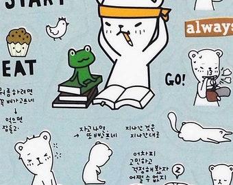 Buha Bear Stickers - Go Go