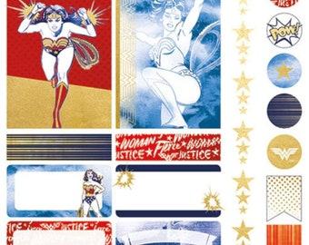 Wonder Woman Planner Stickers