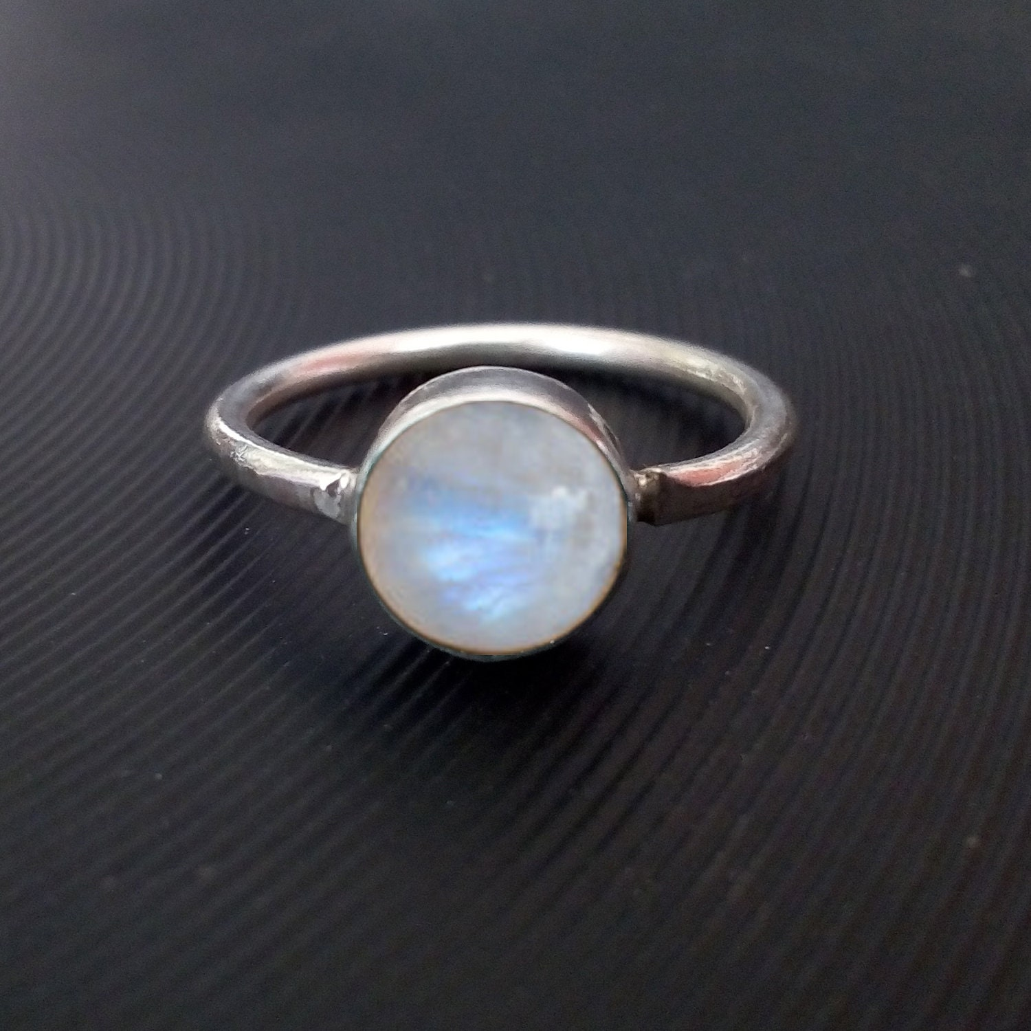 Bold Statement Piece copper ring Brass ring Natural Rainbow moonstone ring high quality fashion jewelry 92.5 sterling silver ring