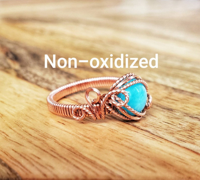 or copper wire sterling silver Customizable wire wrapped ring with rose gold