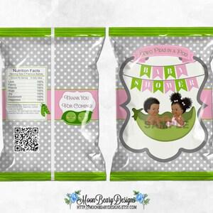Printable Chip Bags Light Skin Tone Vintage Baby Boy Digital Instant Download 2 Little Princes Twins Red /& Gold