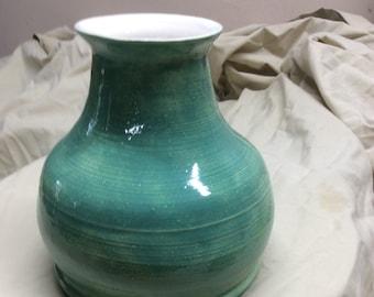 Handthrown pottery vase