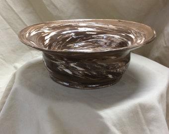 Handthrown pottery bowl
