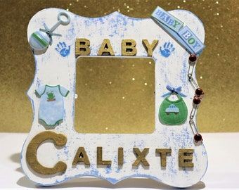 Baby picture frames etsy personalized baby picture frame personalized gift baby gift baby boy gift personalized negle Image collections