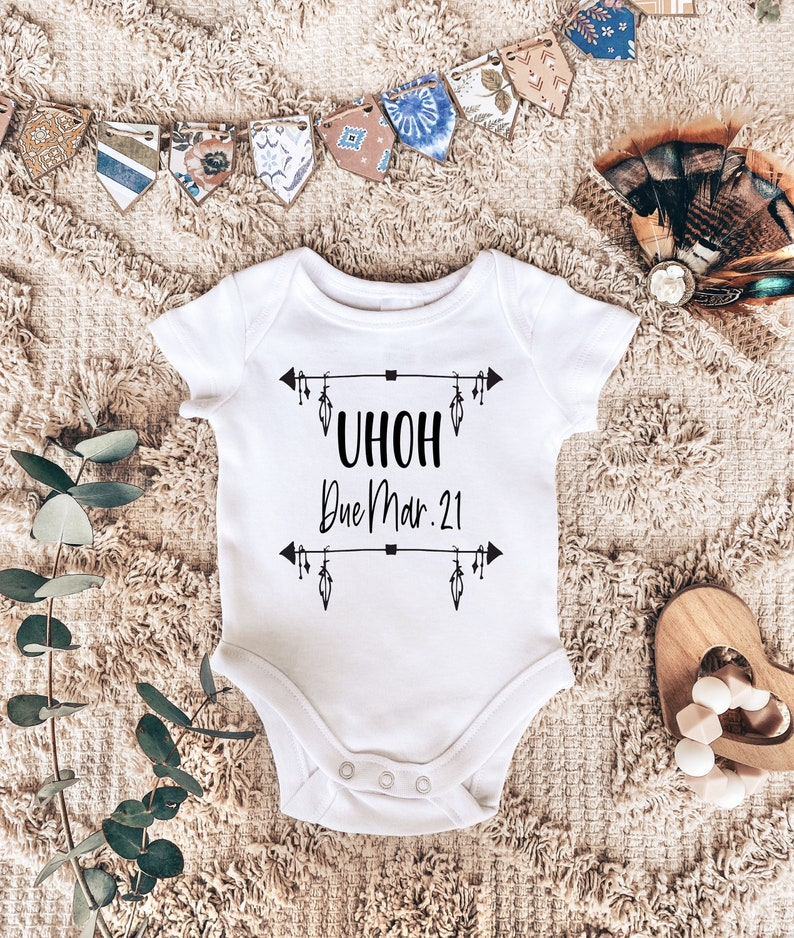 Pregnancy Announcement Custom Onesie  Personalized Bodysuit