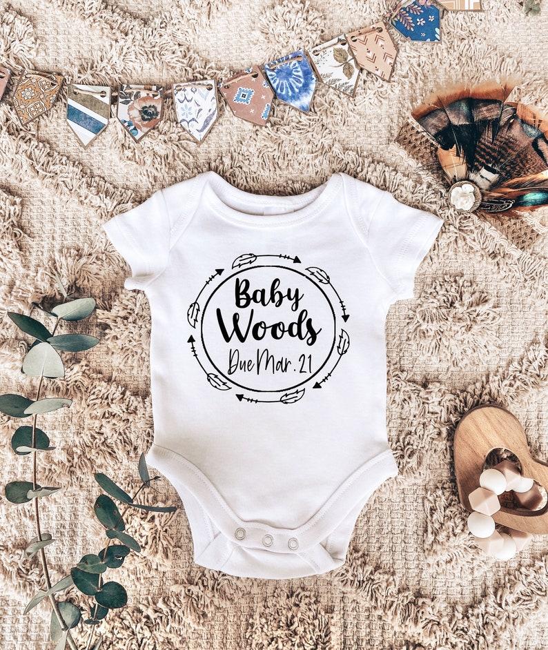 Custom Onesie  Personalized Bodysuit Pregnancy Announcement