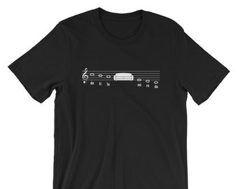 Funny Music Pun Musical Scale Sofa T-Shirt