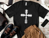 Guitar Cross Short-Sleeve T-Shirt for Christian Guitarists and Worship Leaders
