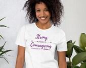 Strong & Courageous Faithful Finish Lines Christian Women's Short-Sleeve T-Shirt