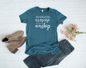 Making Exercise An Act Of Worship Christian Fitness T-Shirt