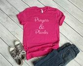 Prayers & Planks Christian Workout Women's T-Shirt