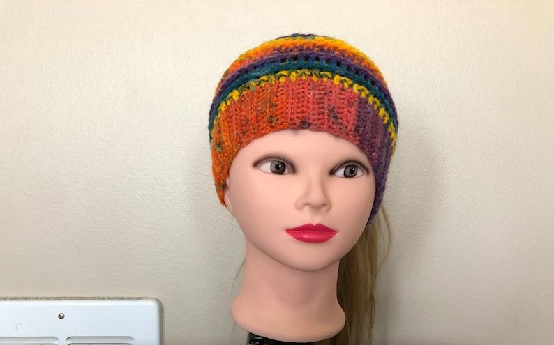 Harvest Rainbow Katniss Messy Bun Hat