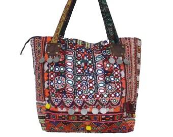 cf816313ed6f Banjara Hand Bag Hand Embroidered Banjara Bag Indian Vintage Shoulder Bag  Handmade Hobo Bag Bohemian Colorful Tote Bag