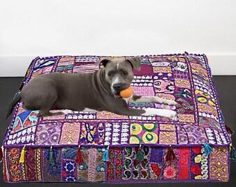 patchwork dog bed