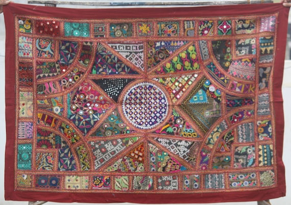 Indians suzani embroidery Table Runner 16 x 60 Decorative tapastry