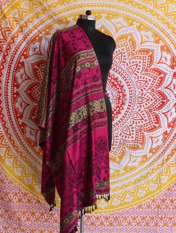 30748459566c Etole rose Cachemire pashmina châle indien laine écharpe tour   Etsy