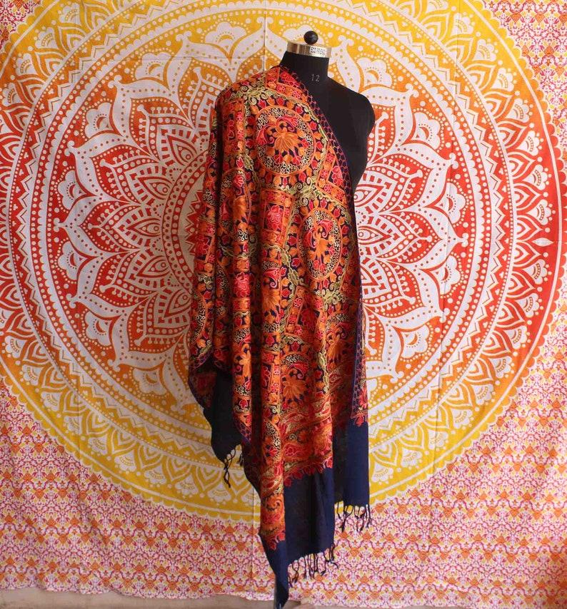 461f4183b1 New Fashion Hand Embroidered Pashmina Shawl Indian Cashmere | Etsy
