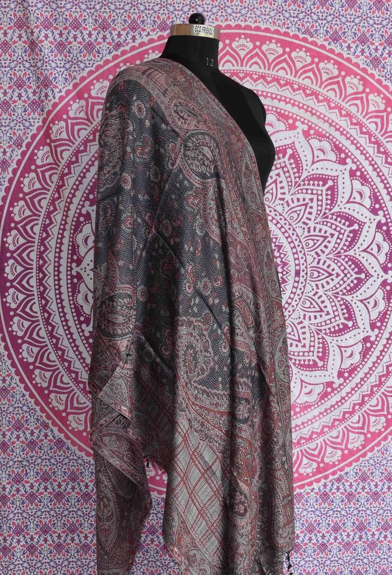 040132c47 Hand Woven Kashmiri Shawl Cashmere Pashmina Shawl Handmade   Etsy