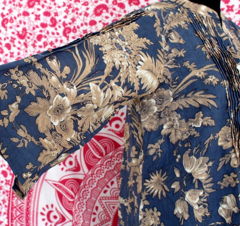 New Fashion Designer Kurti Girl/'s Top Hippie Summer Dress Indian Cotton Floral Design Kurti Colorful Bohemian Dress Women/'s Boho Top