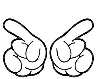 Mickey Mouse Glove hands SVG, Disney Hands Svg, Mickey hands svg for Cricut and Silhouette, Svg Png Dxf Jpg Eps Cdr Pdf