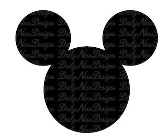 graphic relating to Mickey Mouse Outline Printable titled Mickey mouse define svg Etsy