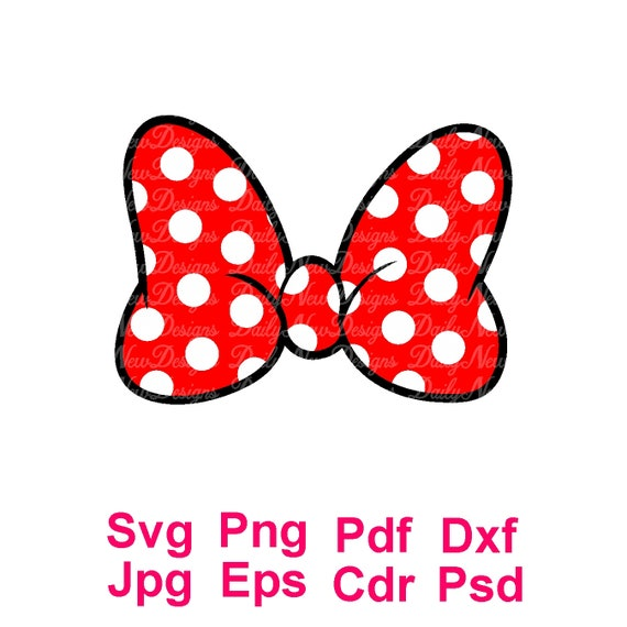 Minnie Mouse Bow Svg Disney Svg Minnie Bow Svg Voor Cricut Etsy