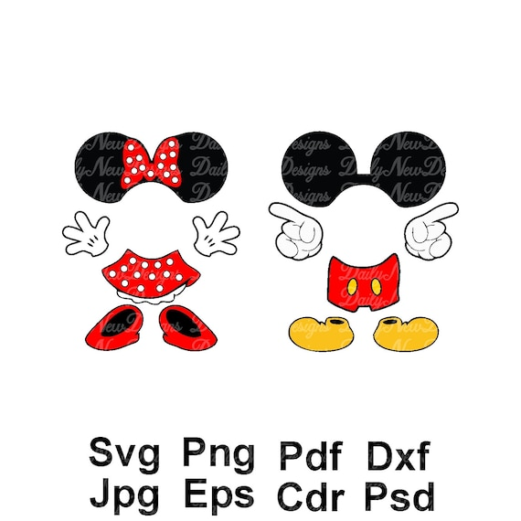 2 for 1 disney mickey mouse body svg minnie mouse svg etsy rh etsy com Minnie Mouse Bow Clip Art Disney Clip Art