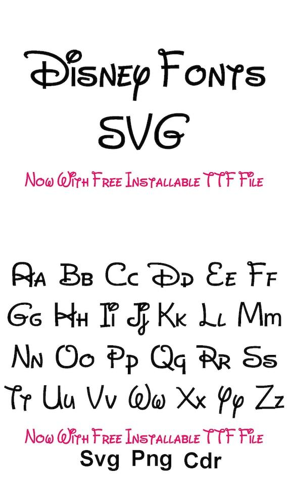 Disney Font Svg Disney Alphabet Svg Svg Files For Silhouette Etsy