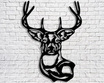Deer Metal Wall Decor Animal Wall Hanging Art Outside Metal Decoration