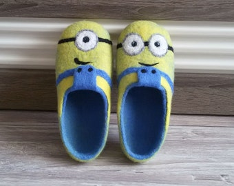 """Felted Slippers """"Minions"""""""