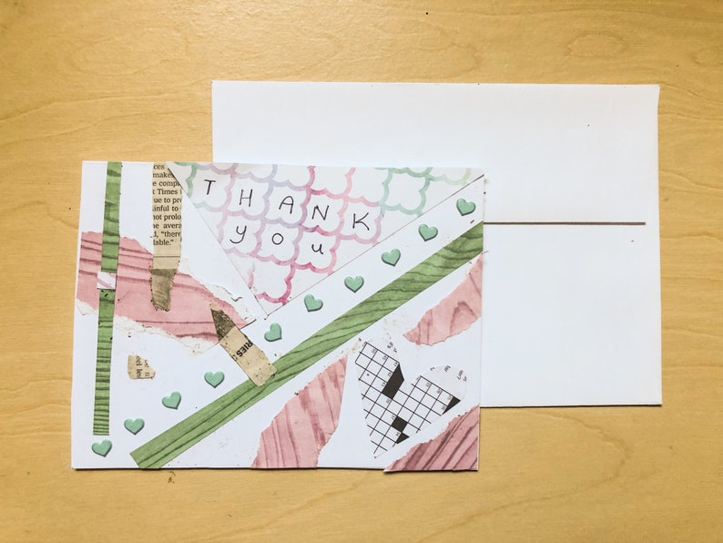 4 Handmade Thank You Cards 5x7 Made With Love