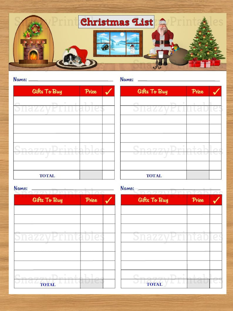 graphic regarding Christmas Gifts List Printable named Xmas Present Listing Printable, Xmas Buying Listing, Xmas Planner, Xmas Listing, Immediate Down load